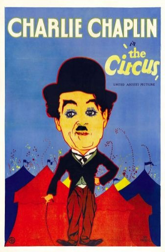 The theatrical poster of Charlie Chaplin's film- The Circus